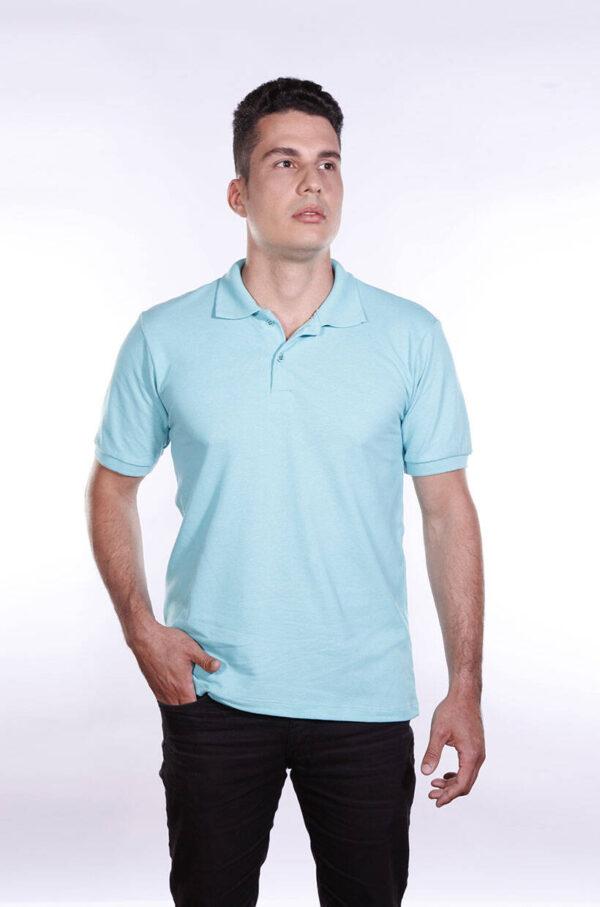 camisa-polo-para-empresa-ecoline-masculina-turquesa-detalhe