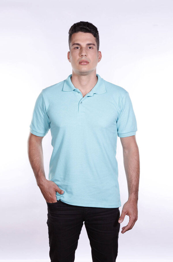 camisa-polo-para-empresa-ecoline-masculina-turquesa-frente