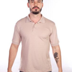 camisa-polo-para-empresa-classica-masculina-caqui-frente