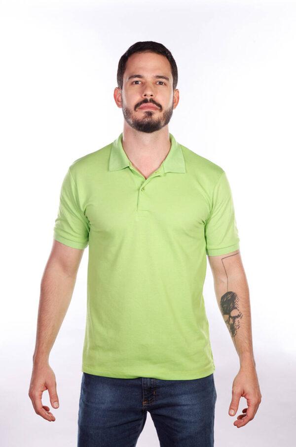 camisa-polo-para-empresa-classica-masculina-verde-limao-frente